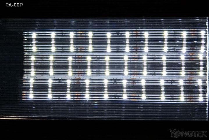 yongtek prism linear diffuser sheet light effect