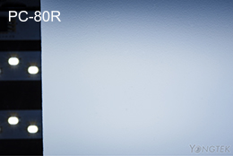 PC-80R PC opal diffuser sheet light effect