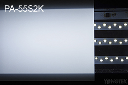 PA-55S2K opal matte plastic plate light effect